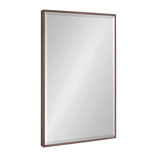 Kate and Laurel Rhodes Modern Wall Mirror, 24.75″ x 36.75″, Bronze, Decorative Rectangular Wall Accent