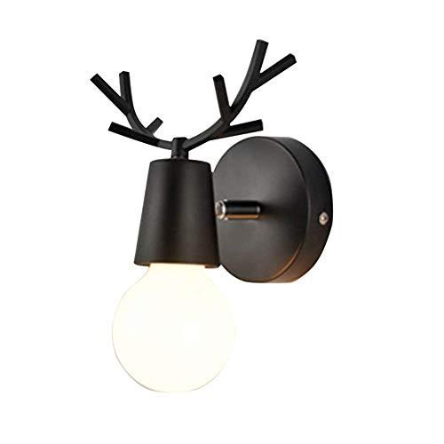 INJUICY Loft Vintage Retro industrie E27 Edison LED wandlamp licht hout & metaal lampenkap wandlampen lamp koffie wandlamp woonkamer slaapkamer nachtkastje restaurant gang