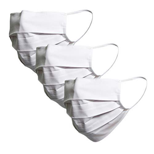 von Jungfeld – Stoff Mund Nasen Maske 100% Baumwolle unisex einfarbig 3er Pack