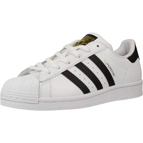 adidas Superstar J, Basket Mixte Enfant, FTWR White/Core Black/FTWR White, 38 EU