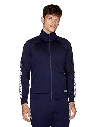 United Colors of Benetton Herren Iconic 2 Man Sweatshirt, Blau (Blu Navy 016), Large