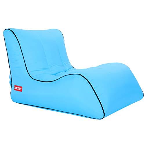 Qinghengyong Aufblasbare Air Bag Lounger Sofa fauler Couch Tragbarer Stuhl wasserdichtes aufblasbares Schlafen Camping Wasserdicht Sofa Himmelblau2
