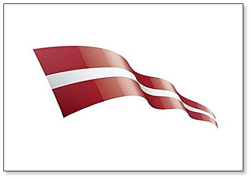 Lettland Ribbon Flagge, Illustration Klassischer Kühlschrankmagnet