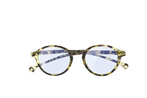 PARAFINA Volga Gafas de Lectura para Hombre y Mujer, Filtro Luz Azul, Gafas Eco-Friendly Anti-reflejantes, Montura Eco-friendly, color Carey Marruecos, Graduación +1.50