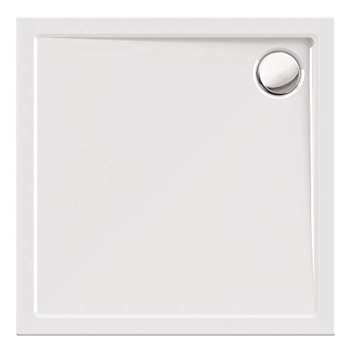 Calmwaters® - Modern Select - Eckige Bodengleiche Dusche in in 90 x 90 cm aus Acryl mit Ablaufloch in 90 mm - 01SL2984