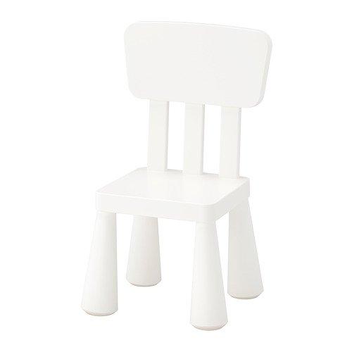 Unbekannt IKEA Mammut Kinderstuhl in weiß; für drinnen und draußen