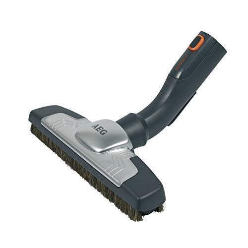 AEG AZE115 Silent Parketto Hartbodendüse (Parkettdüse, optimale Saugleistung, 100% Naturhaar, schonende Reinigung, leise, passend für AEG-Sauger mit 36 mm Ovalrohr, grau)