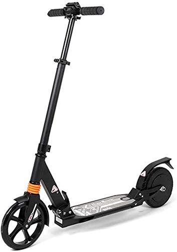 CEXTT Scooters, Scooters eléctricos, Scooters eléctricos Ligeros Adultos fácilmente Plegable, baterías remotas 10 Millas, (Color : Black)