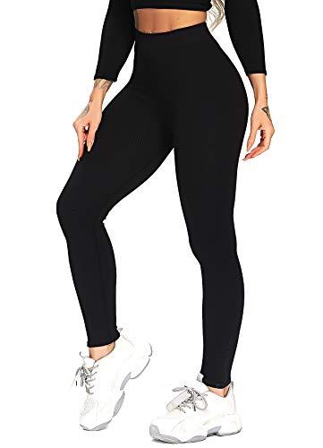 INSTINNCT Camiseta básica de manga larga para mujer, estilo informal #3 Pants - Black XL