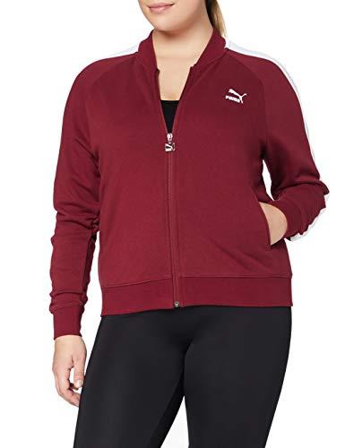 PUMA Classics T7Track Jacket, FT–Sudadera para Mujer, Mujer, 576661, Pomegranate, FR : XL (Taille Fabricant : XL)