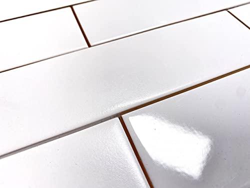 White Subway Tile Gloss Finish 2' X 8' ( 60 pieces- Box of 6.7 Sqft),...