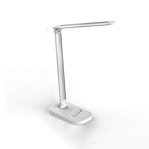 SPNEC Lámpara de Escritorio LED, lámparas de Mesa Que cuidan el Ojo, lámpara de Oficina Regulable con Puerto de Carga USB, con Niveles, Control táctil