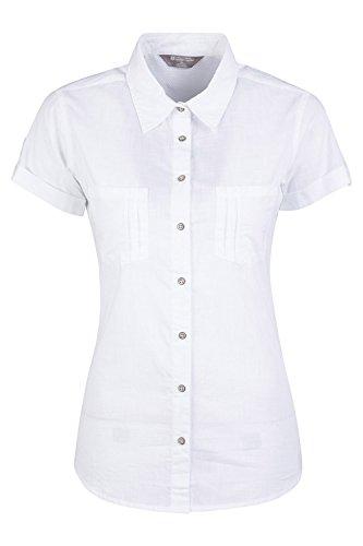 Mountain Warehouse Coconut Camisa de Las Mujeres Cortas de la Manga - 100% Tapa del Verano de Las señoras del algodón, Peso Ligero, Blusa de Breathable