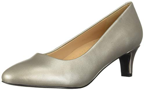 Trotters Women's Fab Pump, Pewter, 7.5 M US