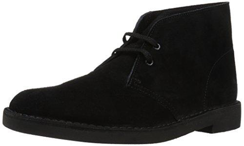 Clarks mens Bushacre 2 chukka boots, Black Suede, 9.5 US