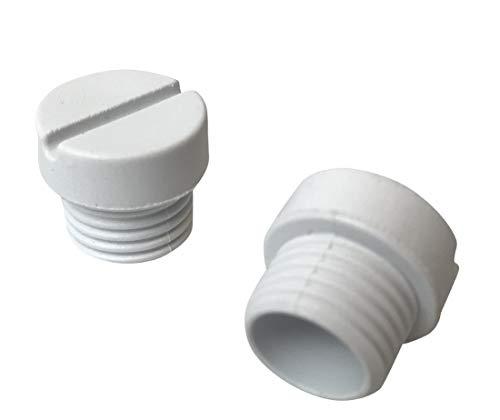 Tapas de soporte para cepillo de color blanco para batidoras Kitchenaid Piezas de repuesto originales. WP3184211