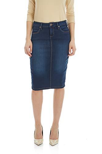 ESTEEZ Jean Skirt for Women Powerstretch Denim Miami Blue 14