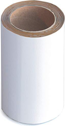 Wupsi Cinta de Reparación de PVC - para Lonas, Cubierta de Remolque, Invernadero, Toldo, Carpa, Tienda Campaña y Persianas - Blanco, 20 cm X 5 m