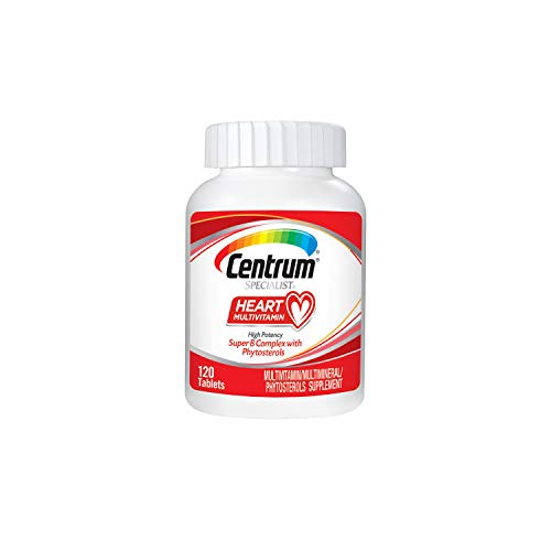 Centrum Specialist Heart Multivitamin/Multimineral Supplement with Super B Complex Vitamins, Antioxidants and Phytosterols - 120 Count