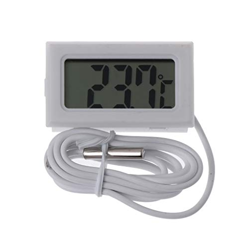 BIlinli Digital-Thermometer LCD-Kühlschrank zur sofortigen Ablesung Aquarium Monitor Display Detector