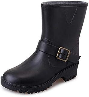 [イイノ] ショートブーツ 雨靴 防水 レインシューズ 滑り止め 短靴サイドゴアショート おしゃれ女性 無地 梅雨対策