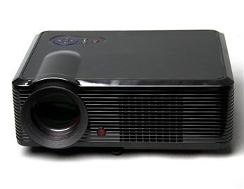 5 Active Matrix TFT LCD LED Projector with 1080P HDMI Output and US Plug (Black)
