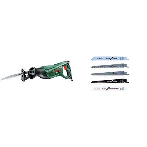 Bosch PSA 700 E - Sierra sable, sistema SDS, 710 W, 240 V + Pack de 5 cuchillas Bosch para KEO