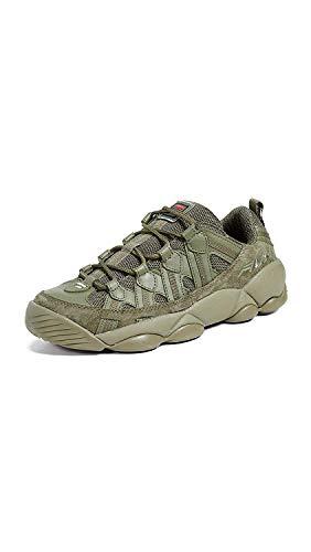 Fila Men's Spaghetti Low Sneakers, Drygrass, Green, 9 M US