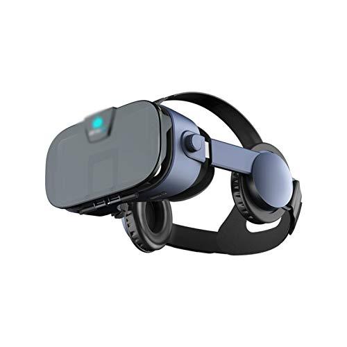 HDCDKKOU VR Auriculares Virtual Realidad Gafas Gafas cómodas y Ajustables con protección a los Ojos llenos - Regalo para niños y Adultos (Color : Black)