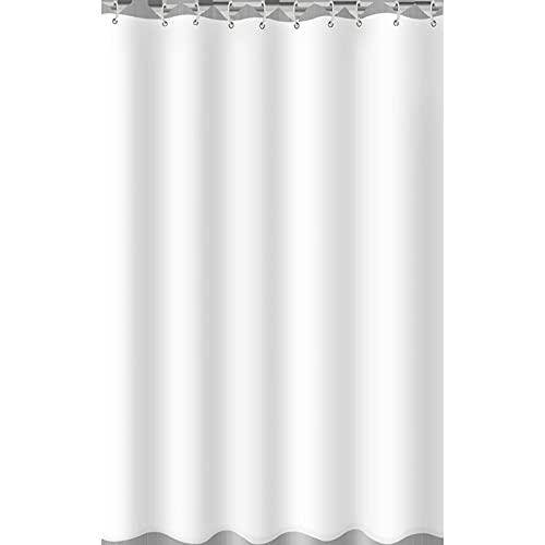 YCZZ Duschvorhang, reinweißer Duschvorhang aus Polyester, wasserdichter, schimmelresistenter Duschvorhang, Trennvorhang 240 * 200CM Duschvorhang