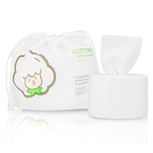GothicBride Asciugamani Monouso 100% Cotone Non-tessuto Lusso Tessuto di Cotone Facciale in Cotone per la Pulizia del Viso 80pezzi in 1 borsa