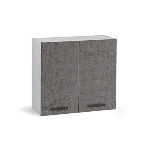 Pensile Per Cucina Grigio Cemento 2 Ante Cm 80x32xh 72