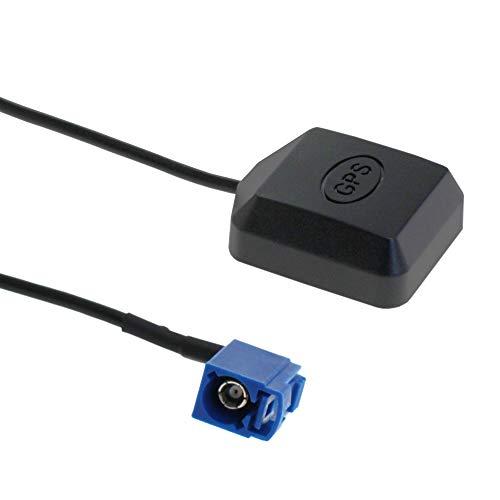 GPS Antenne FAKRA Stecker Adapter C mit Magnetfuß für VW Golf Audi GPS Navigation System GPS Receivers Auto DVR GPS Modul Tracking Antenne - 5m - von Weiss - More Power +