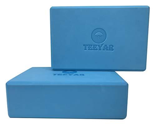 ヨガブロック 2個セット 2サイズ 【高密度200g/300g】 全30色 初心者/上級な ヨガぶろっく(3年保証) (Yoga Block Set) (厚さ7.2cm/ブルー)