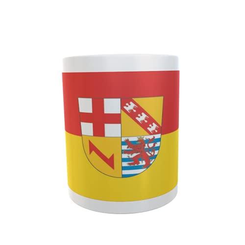 U24 Tasse Kaffeebecher Mug Cup Flagge Landkreis Merzig-Wadern