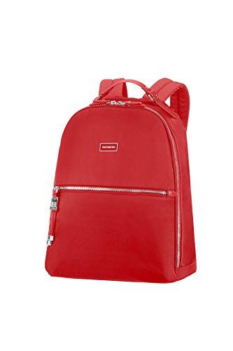 "SAMSONITE Karissa Biz - Backpack 14.1"" Mochila Tipo Casual, 41 cm, 17.5 Liters, Rojo (Formula Red)"