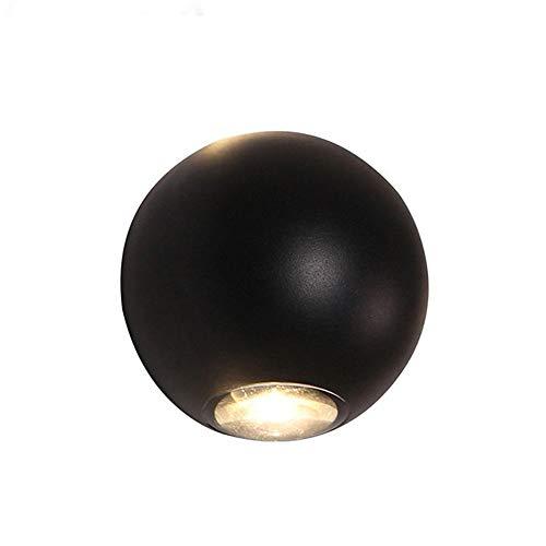 MUMUMI LED de la pared redonda de la pared de la pared hacia abajo hacia abajo la luz del haz exterior Dos transparentes al aire libre impermeable a prueba de agua la luz de la pared de la pared de la