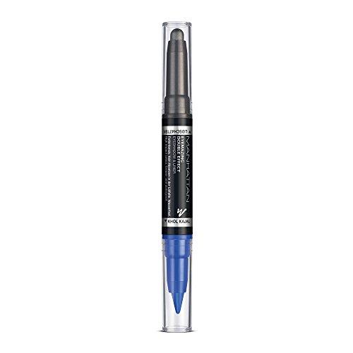 Manhattan Eyemazing Double Effect Eyeshadow & Liner – Blauer 2-in-1 Lidschatten & Eyeliner Stift zum Drehen – Farbe 004 Cobalt Storm – 1 x 2g
