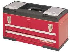 Westward 10J166 Tool Chest 20-1/2 Wx8-5/8 Dx11-1/4 H Red