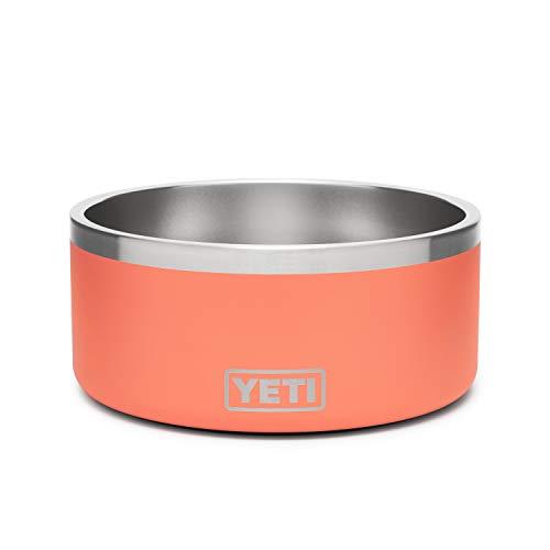 YETI Boomer 8 Stainless Steel, Non-Slip Dog Bowl, Coral