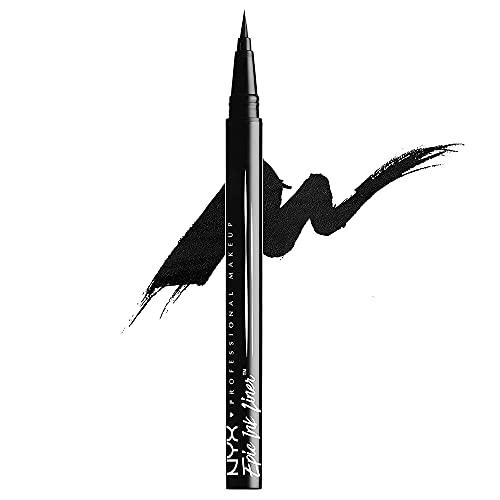 NYX Professional Makeup, Epic Ink Eye Liner, pennellino pigmentato e waterproof, Black