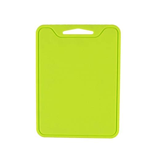 CAheadY Flexible Silikon Schneidebrett Platte Anti Slip Gemüse Fleisch Hackklotz Light Green