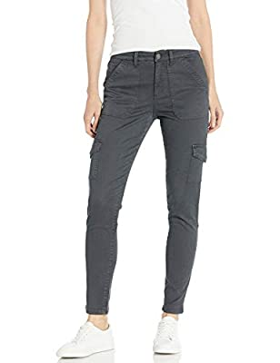 Amazon Brand - Daily Ritual Women's Stretch Twill High-Rise Skinny Cargo Pant, Dark Grey 12