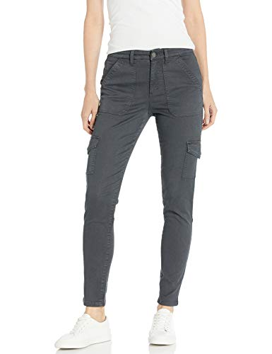 Amazon Brand - Daily Ritual Women's Stretch Twill High-Rise Skinny Cargo Pant, Dark Grey 6
