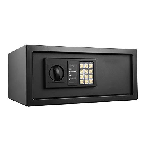 Cabinet Casseforti Documento Serratura Elettronica Cassaforte Sicurezza Del Ministero Box Solido Acciaio Hotel Business Home Office Hotel (Colore : Black, Size : 42X30X19Cm)