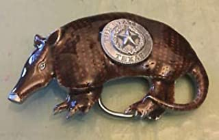 Texas Seal ON Armadillo Belt Buckle New Approximately 3 1/4