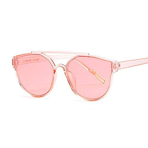 Heigmznvtyj Gafas de Sol Mujer Polarizadas, Gafas de Sol de Ojos de Gato Espejo de Mujeres Gafas de Sol Señoras Lentes ovaladas Cromaticidad Adecuado para Gafas para Mujer (Lenses Color : Pink)