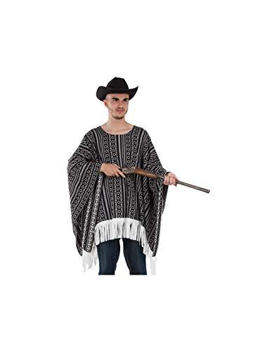 DISBACANAL Poncho Vaquero para Adulto - -, Adulto