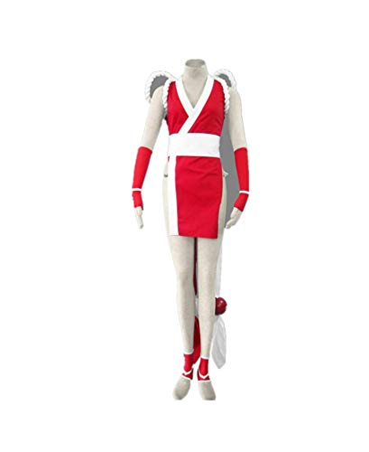 Love Anime Cosplay Costume Uniform Clothes-Mai Shiranui 8Pcs Set Red