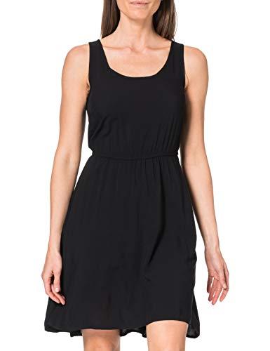 Only Onlnova Life S/L Sara Dress Solid WVN 5 Vestido, Negro, 36 para Mujer